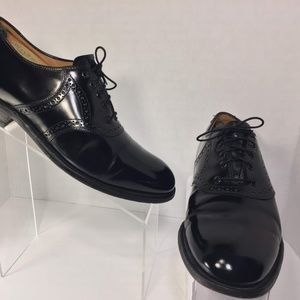 Johnston & Murphy  Handcrafted Black Oxford 8.5 D